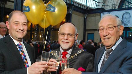 Celebrating 50 years in business, founder of Martyn Gerrad Estate Agents, Martyn Gerrard, and his so