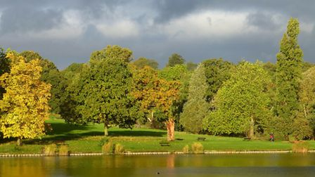 File photo: Autumn colour at boating pond on Hampstead Heath. Picture: Nigel Sutton