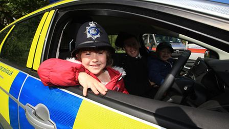 Katie and brother Nathan Tull-Nicholls at the family fun day organised by Shoreditch policing team a