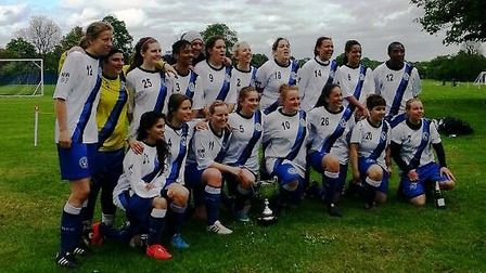 Hampstead Ladies celebrate their title triumph