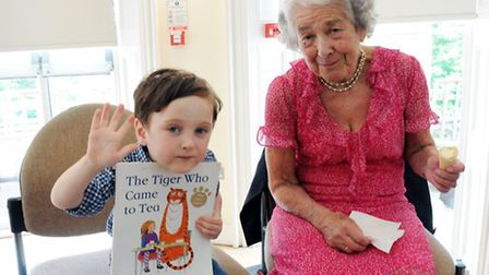 Celebrated author Judith Kerr (right) at the London Jewish Cultural Centre. Picture: Dieter Perry.
