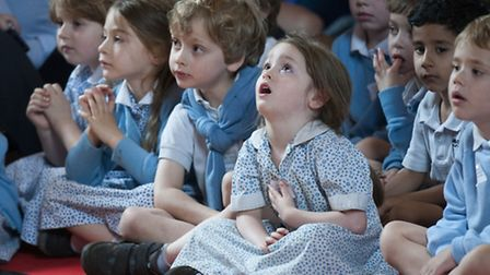 Children watching the Schools Concert with the Nonesuch Orchestra. Picture: Nigel Sutton.