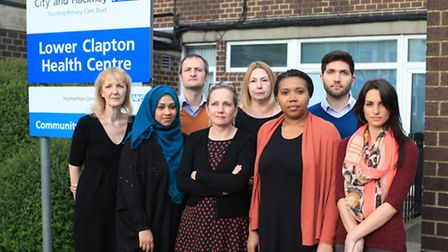 GPs and staff at the Lower Clapton practice who are concerned about the cuts.