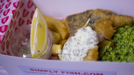 Simply Fish delivers within a three-mile radius of its Camden Town restaurant