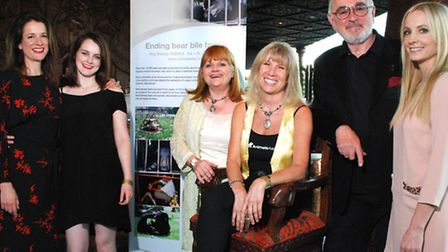 Actors Raquel Cassidy, Sophie McSheera and Lesley Nicol with Jill Robinson MBE (founder and CEO of t