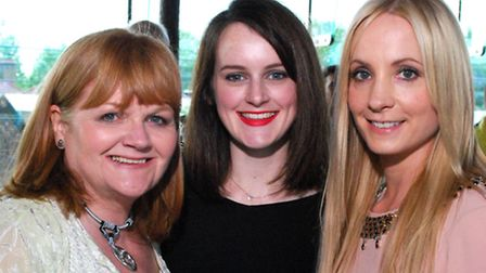 Downton Abbey actors Lesley Nicol, Sophie McSheera, and Joanne Foggatt at the charity fundraiser in