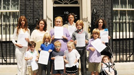 Jessica Learmond-Criqui leads a delegation of Hampstead residents and victims of crime to Number 10