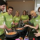 Cooking up a feast: (From left) Ziad Elhady, Rabbi Natan Levy, Fiona Seitler and her daughter Katie