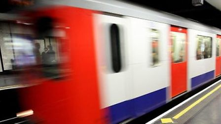 The woman was slapped on a busy Tube train shortly after boarding at Camden Town