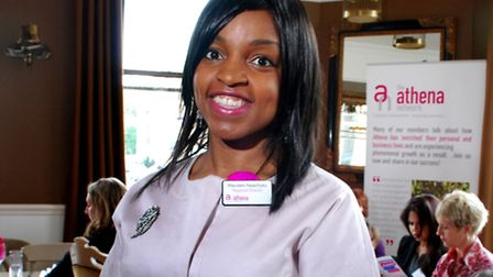 Regional director Maureen Nwachuku at the launch event of the Hampstead branch of women's network At