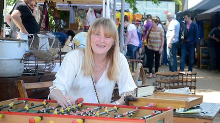 Organiser of the West Hampstead Food and Flea Market Alexandra Gee. Picture: Mark Hakansson