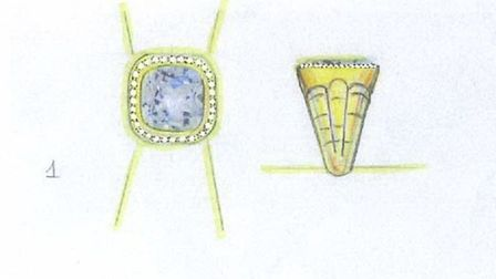 The rings were designed by the owner and have great sentimental value