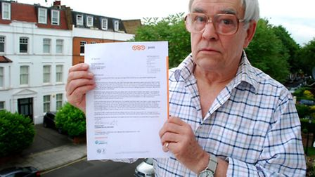 Swiss Cottage resident Warren Hearnden has had numerous problems with TNT's postal service. Picture: