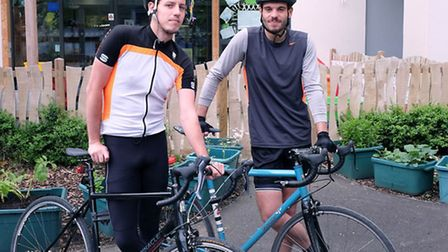 Tom Casson (left) and Sean Bowen will take part in the bike ride. Picture: Dieter Perry.
