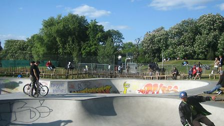 The new skate bowl in Clissold Park, when it first opened. Photo credit Emma Bartholomew