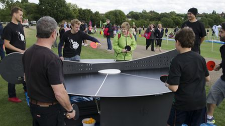 An indoor version of the table was launched at last year's Give it a Go! festival in Parliament Hill
