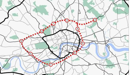 "The ""inner orbital tunnel"" as outlined by the red line would run right under Camden"