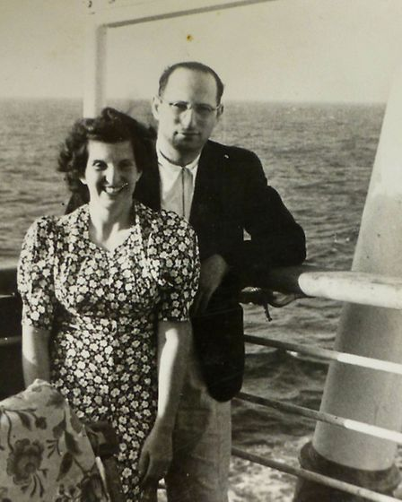 Rolf's parents Lotte and Hans Altschul onboard the St Louis
