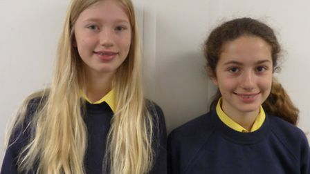 Ruby and Suki, both 13, won the regional heat of the national NHS poster competition