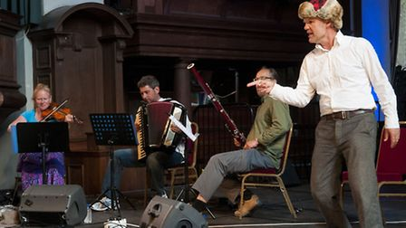 Little Wolf Gang perform Peter and The Wolf. Picture: Nigel Sutton.