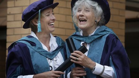 Emma Thompson and her mother Phyllida Law receive honorary degrees at Royal Conservatoire of Scotlan
