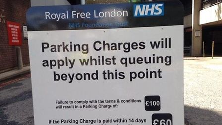 The Royal Free will even charge you for queuing to park. Picture: Harriet Green
