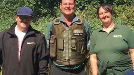 Fen Friends Park chairman James Hurren, Nick Beardmore and Clare Strachan. Picture: Clare Strachan