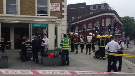 About 20 firefighters attended Feng Sushi in Chalk Farm after reports of a strong chemical smell