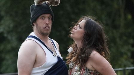 A Midsummer Night's Dream performed on the Tea lawn at Lauderdale House by Shooting Stars Theatre Co