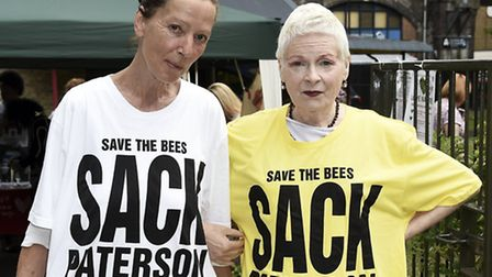 Vivienne Westwood (right) at the Urban Outdoor Festival. Picture: Caron Westbrook.