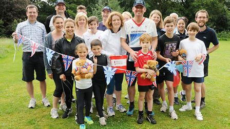 Pupils, teachers and paretns from Hereward House School collectively ran 205 miles on Saturday to ra