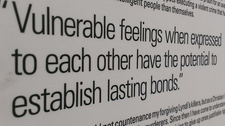 An excerpt from The F-Word exhibition. Photo © The Forgiveness Project.