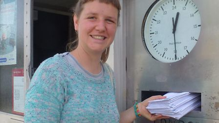 A Digs member posting the spoof eviction notices to local councillors
