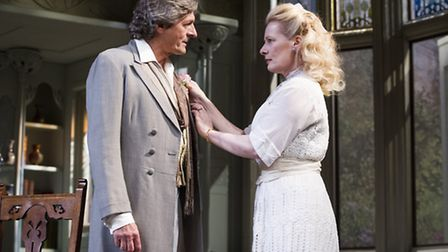 A scene from The Importance Of Being Earnest @ Harold Pinter Theatre. Directed by Lucy Bailey.(Open