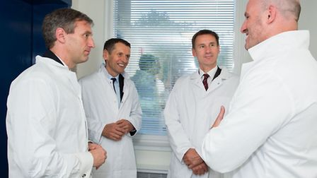 Jeremy Hunt tours the Institute of Immunology and Transplantation at the Royal Free. Pictured with C