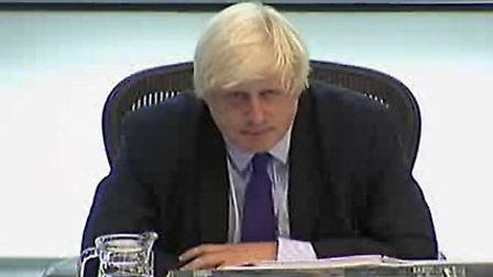 Boris Johnson appeared to distance himself from the Swiss Cottage tower development during Mayor's Q