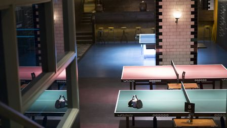 Ping pong tables at Bounce in Holborn, Jim Marks Photography.