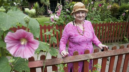 Kate Spencer who lives in Cayford House and looks after the communal garden. Picture: Nigel Sutton