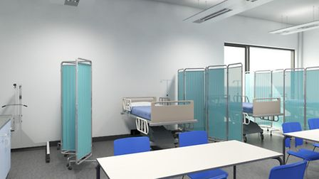 Artist's impression images of what the teaching wards at Hackney University Technical College willl