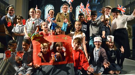 School pupils performed a concert to celebrate the culmination of First World War project at St John