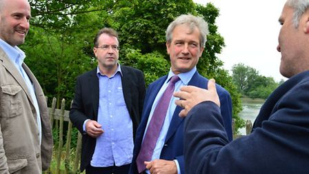 Owen Paterson MP (second from right) recently visited the Heath to hear about the project from Marc