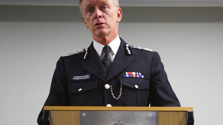 Sir Bernard Hogan-Howe took part in a question and answer session at the school (pic credit: Angela