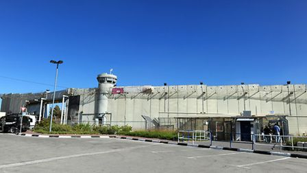 The security checkpoint manded by Israeli soldiers dividing Jerusalem from Bethlehem in the West Ban