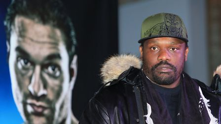 Dereck Chisora (right) has been forced to pull out of his fight with Tyson Fury due to injury