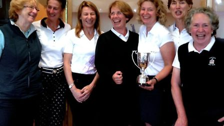 The Hampstead ladies who played in the final. Left to right: Molly Meacher, Julia Male, Mel Sherwood