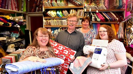 Beccles Sewing and Handicraft shop celebrates its 50th birthday. Business owners Sue and Steve Taylo