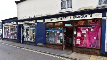 Beccles Sewing and Handicraft shop celebrates its 50th birthday. Picture: Nick Butcher
