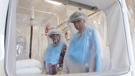 'We're well equipped to deal with any Ebola infection' say Olly Carpeter and consultant Dr Stephen M