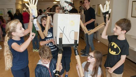 Puppet-making workshop at the LJCC. Picture: Nigel Sutton.