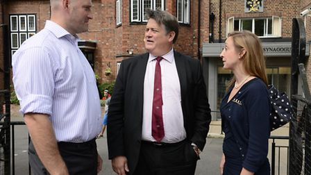 Deputy mayor for policing and crime, Stephen Greenhalgh (centre), during a visit to Hampstead last m